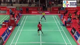 Download Video Fredy Setiawan vs Malaysia Final Badminton Asian Para Games Tim Putra 2018 MP3 3GP MP4
