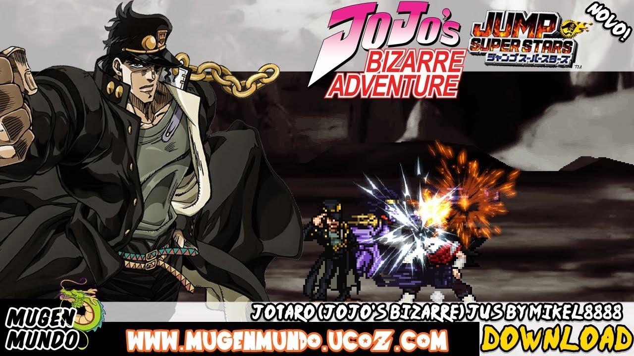 Jojo's Bizarre Adventure: Jotaro Kujo JUS - (DOWNLOAD) - PRIMEIRO VÍDEO DE  JOJO! #MugenAndroid