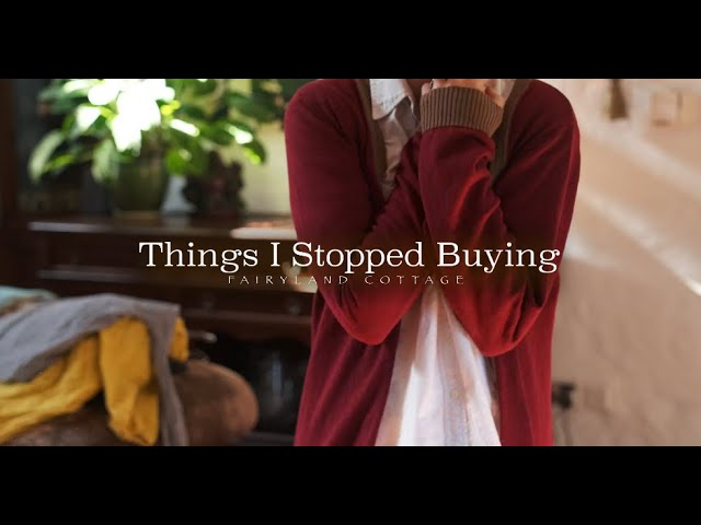 Things I Stopped Buying - Low Waste + Saving Money