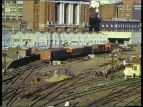 Melbourne rail infrastucture 1960's 70's (silent)