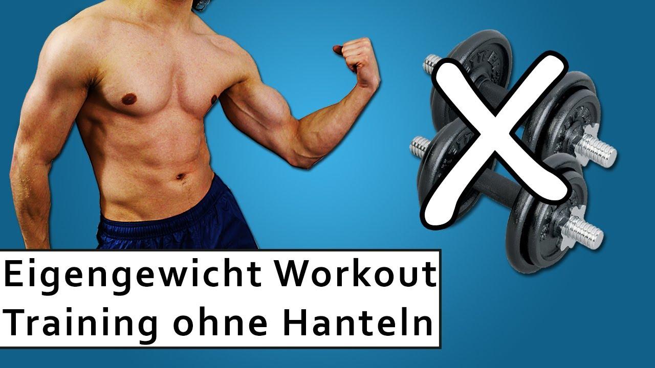 Eigengewicht Training Muskeltraining ohne Hanteln