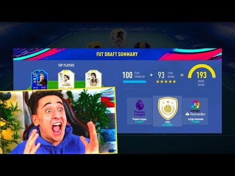 I GOT A 193 FUT DRAFT!!! FIFA 19 *WORLD RECORD*