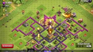 Clash of clans dragon attack and base tour.👍