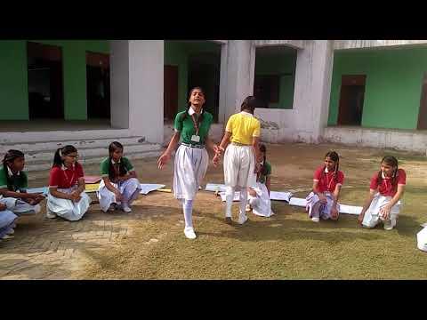 """नाटक से बताया शिक्षा का महत्व - """"उषा, सानिया & समूह कक्षा - 9 OXFORD SCHOOL SHAHJAHANPUR"""