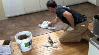 Grouting Tile With A Grout Bag
