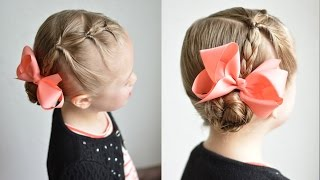 Braided Bun with Flips | Q's Hairdos