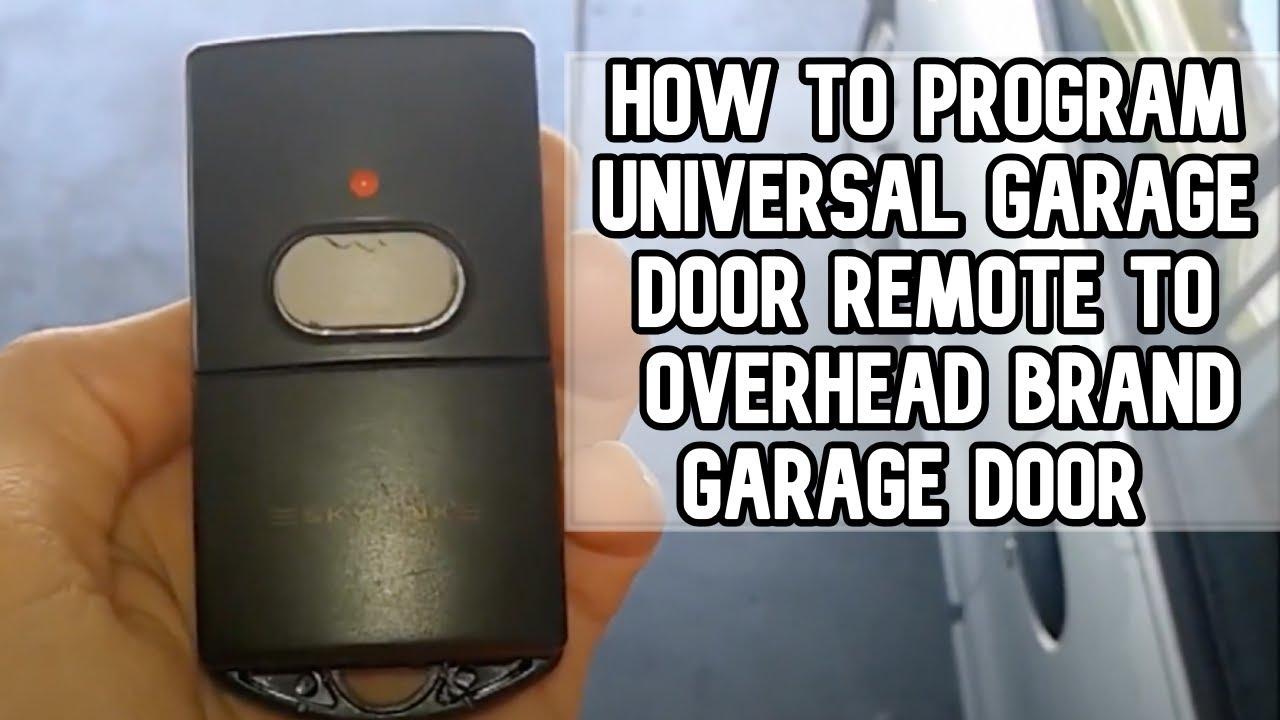 How to program universal garage door remote with Overhead Door opener DIY  video #diy #garage