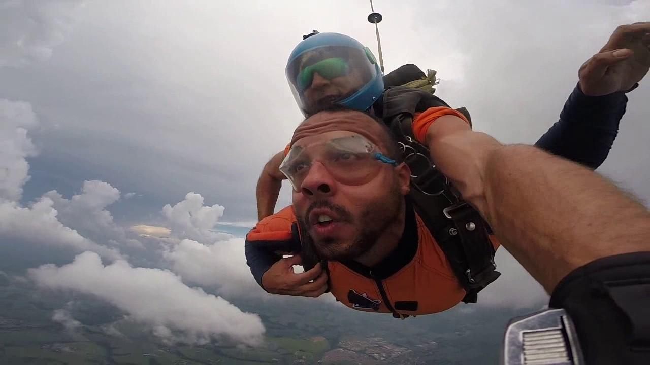 Salto de Paraquedas do Diego A na Queda Livre Paraquedismo 28 01 2017