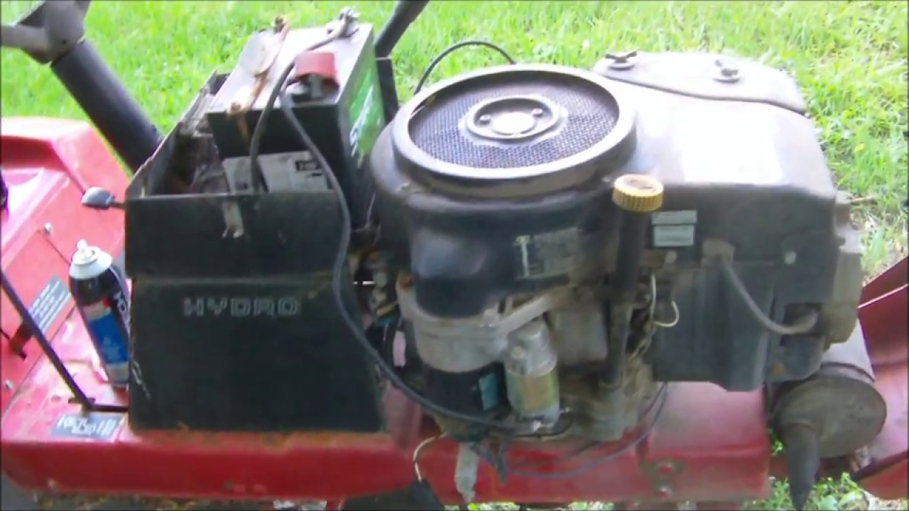 257 H Wheel horse Starter Solenoid and water in gas clean out