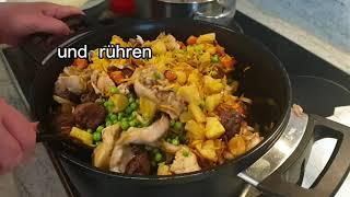 Reis mit Gemüse u.Fleisch /طريقة عمل البرياني