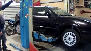 Pont élévateur 380v tri alimenté en 220v mono (DIY Homemade Automatic Car Repair )