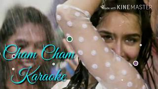 Cham Cham Karaoke With Lyrics | Monali Thakur | Baaghi