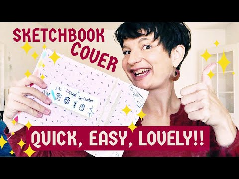Quick & Easy SKETCHBOOK COVER Tutorial | Soft Cover DIY