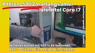 Athlon 5102x langsamer als Intel Core i7 - aber Windows startet in 25 Sekunden von SSD