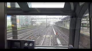 スーパービュー踊り子251系の後方展望(東神奈川付近を走行して横浜駅に到着) thumbnail