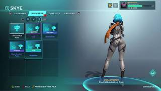 Paladins - All of Skye's Skins, Emotes, and Poses 7/24/2018