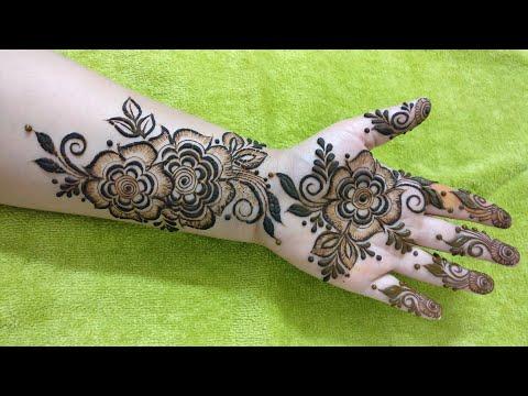 Ramzan EID Special Mehndi Design #1 for Front Hand 2018