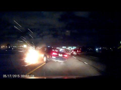 Near miss car crash on 101-S California