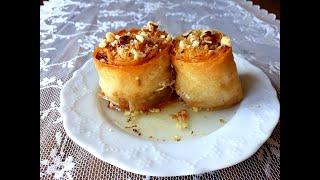 Фото Кадаиф с орехи в кора