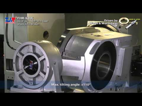TJR rotary table - Driven by worm & gear [FHR-630] - YouTube