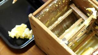 Butter churning by hand