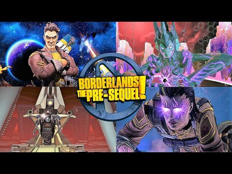 BORDERLANDS THE PRE SEQUEL - ALL BOSS FIGHTS + DLC (Xbox One/PS4)