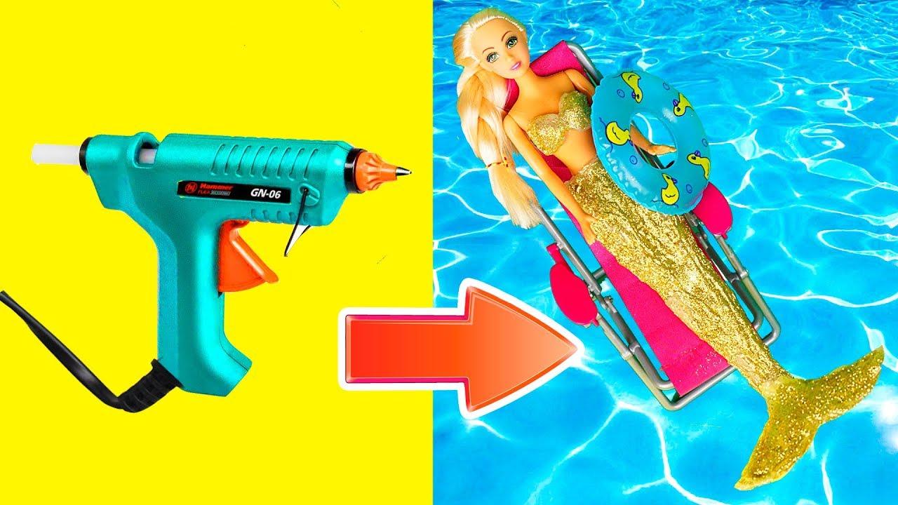 DIY Barbie Mermaid | Barbie Doll become a real mermaid | Creative Fun for  Kids