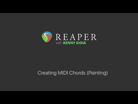 Creating MIDI Chords (Painting) in REAPER