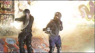 Fireworks Vs Riot Police