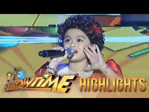 "It's Showtime: Lea Salonga Mini Me Impresses With Her Version Of ""Tomorrow"""