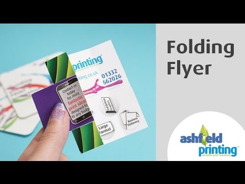 interactive brochure design interactive folding flyer how ashfield printings origami