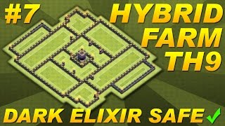 Clash Of Clans -Town Hall 9 (TH9) Dark Elixir (DE) Farming Base -COC EPIC SYMMETRICAL BOSS SETUP #7