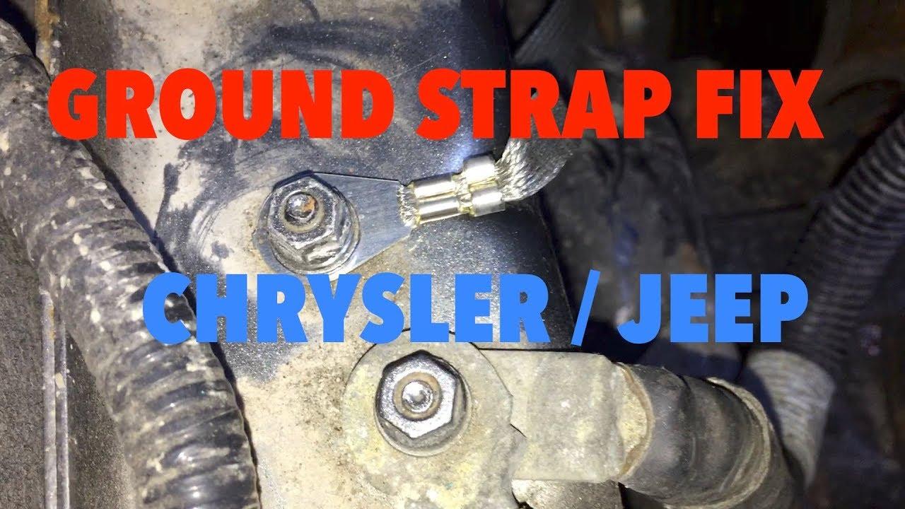 medium resolution of chrysler jeep ground strap repair