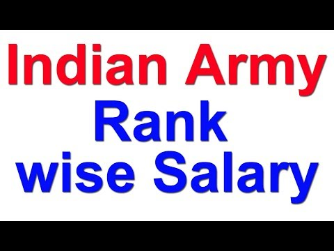 Indian Army Rank wise Salary | Grade Pay | MSP | 7th pay