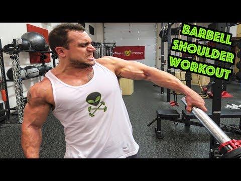 Intense 5 Minute Barbell Shoulder Workout