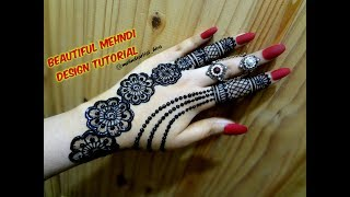 DIY Beautiful trendy stylish simple henna jewelery ornamental mehndi designs for hands for eid,party