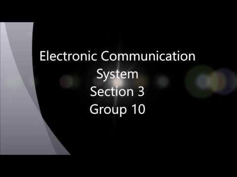 Presentation of progress report 1 electronic communication system - Group 10