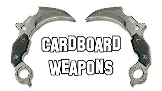 ✔ How to Make a Cardboard Weapons