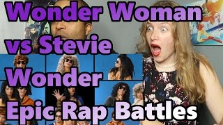 Wonder Woman vs Stevie Wonder Epic Rap Battles of History (Reaction 🔥)