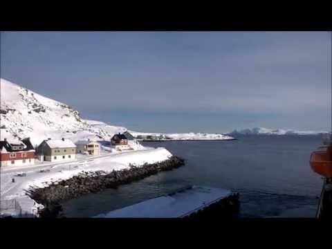 Visiting the tiny port at Havøysund, Norway