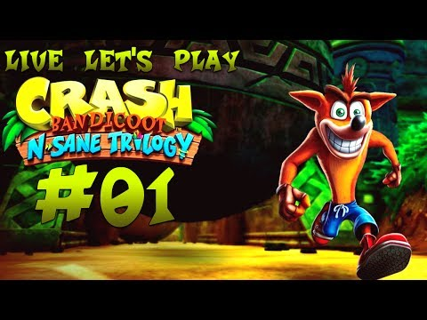 Crash Bandicoot N.Sane Trilogy Live Let's Play #01