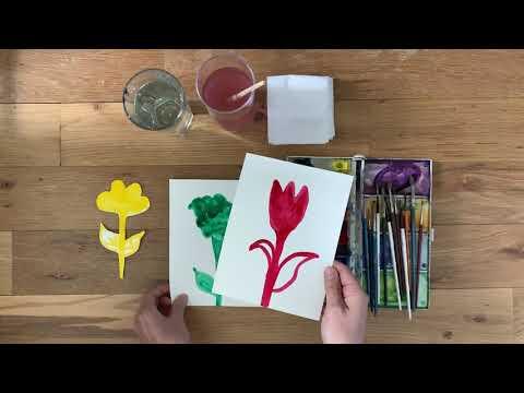 Make flowers with Leila joon!