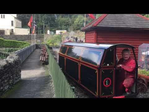 Laxey Mine Railway train departing