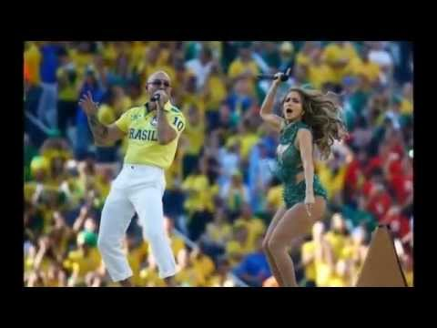 Jennifer Lopez, Claudia & Pitbull oomph crowd at FIFA World Cup opening ceremony