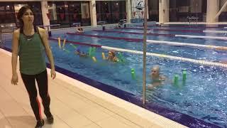 Фитнес - Акваэробика. Бассейн оздоровительная программа. Упражнения для похудения.
