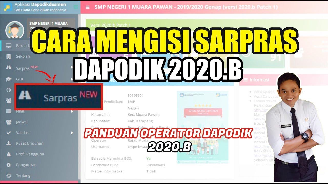 CARA MENGISI SARPRAS DI DAPODIK 2020.B - YouTube