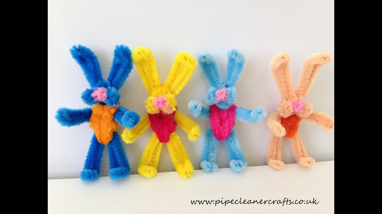 How to make a pipe cleaner bunny - YouTube