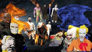 GTA 5 - Tổng hợp phim Chú hề ma quái Pennywise khởi chiến các Sát thủ |  GHTG