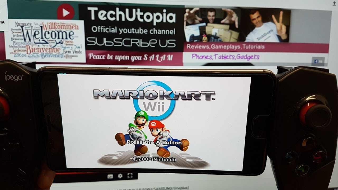 Playing Mario Kart Wii On Android Smartphone Dolphin Wii Emulator Snapdragon 821 Gamepad Youtube