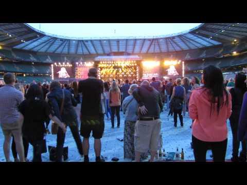 Beyonce at Twickenham stadium